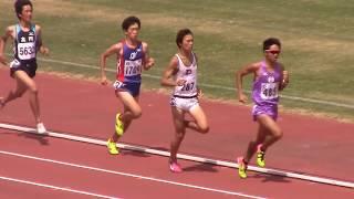 平成 29 年度第 1 回関西学連競技会 男子1500m2組 2017.08.05 於:ヤン...