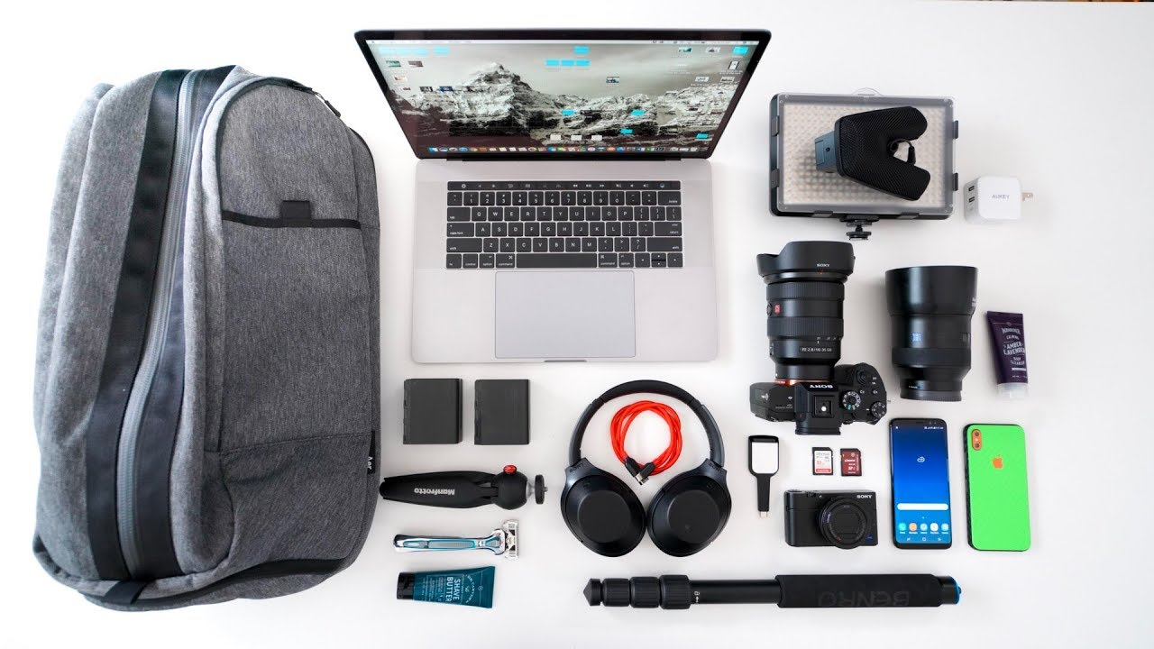 ef11f8d549f THE ULTIMATE TECH TRAVEL BACKPACK! - MWC EDITION! - YouTube