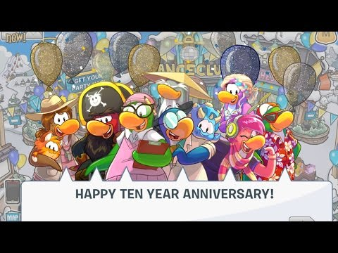 Club Penguin: 10th Anniversary Party Walkthrough