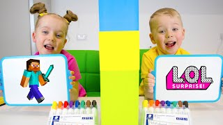 Who Knows Better?! Funny video for kids from Gaby and Alex