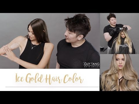 Ice Gold Hair Color
