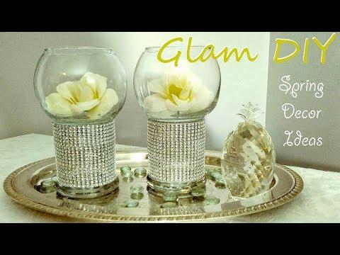 Dollar Tree DIY Glam Bling Pedestal Vase