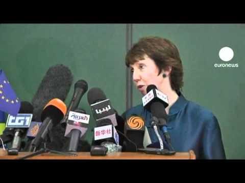 Catherine Ashton inaugure un bureau de l'UE à Benghazi