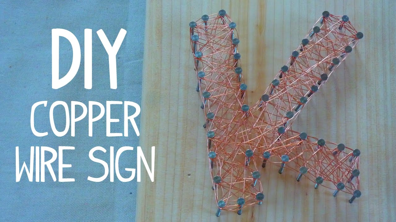 Diy copper wire wrapped letters youtube diy copper wire wrapped letters greentooth Image collections