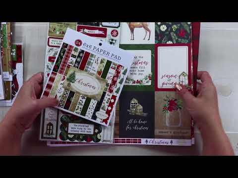 Christmas Paper Haul Polly's Paper Studio Vintage Card Scrapbooking craft decoration handmade create