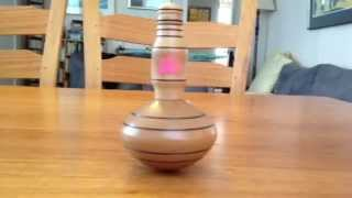 String-pull Self-winding Wooden Spinning Top Made From Australian Camphor Laurel