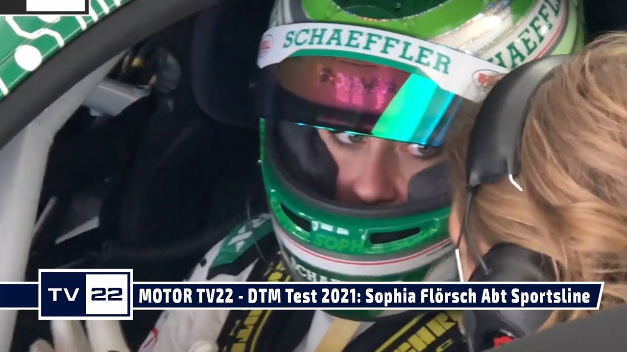MOTOR TV22: DTM Test Hockenheim - Sophia Flörsch vom Team Abt Sportsline