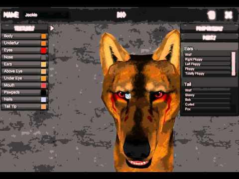 Jocklo in the Aro'kai Canine Editor