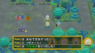Gameplay - Pokemon Mystery Dungeon Wii Ware (Combat)