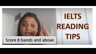 IELTS reading section TIPS to score above 8 bands- Part 1