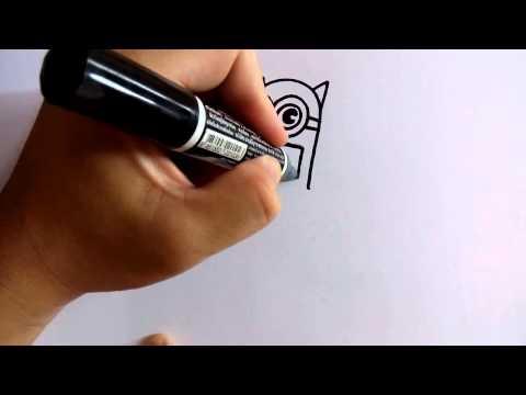สอนวาดรูปการ์ตูนมินเนี่ยน Minions แบทแมน ฺbatman by วาดการ์ตูนกันเถอะ