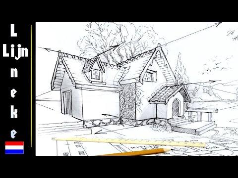 Kamer en twee punt perspectief tekenen voor beginners doovi - Hoe je je huis regelt ...