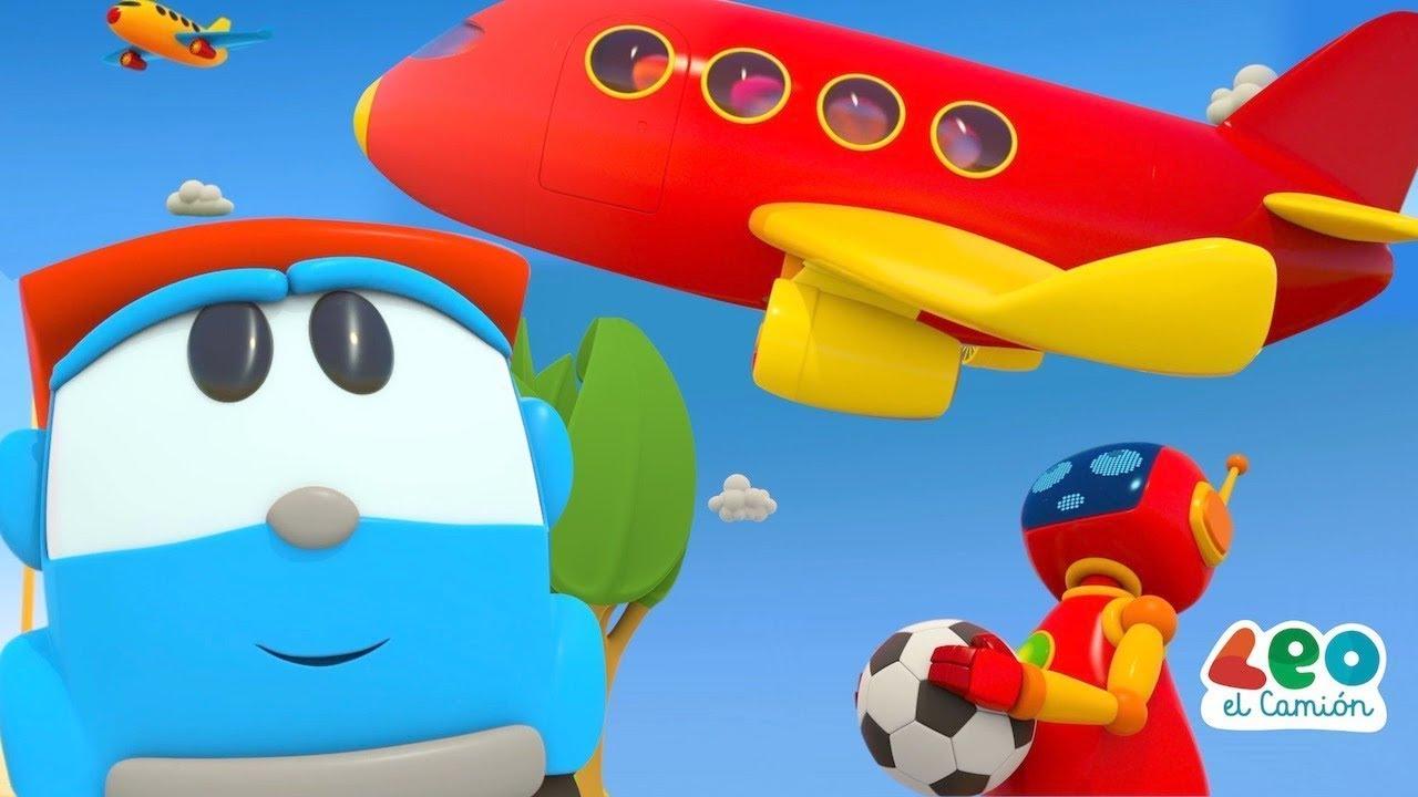 Leo el Camión - Leo construye un aeropuerto grande - Aviones para niños