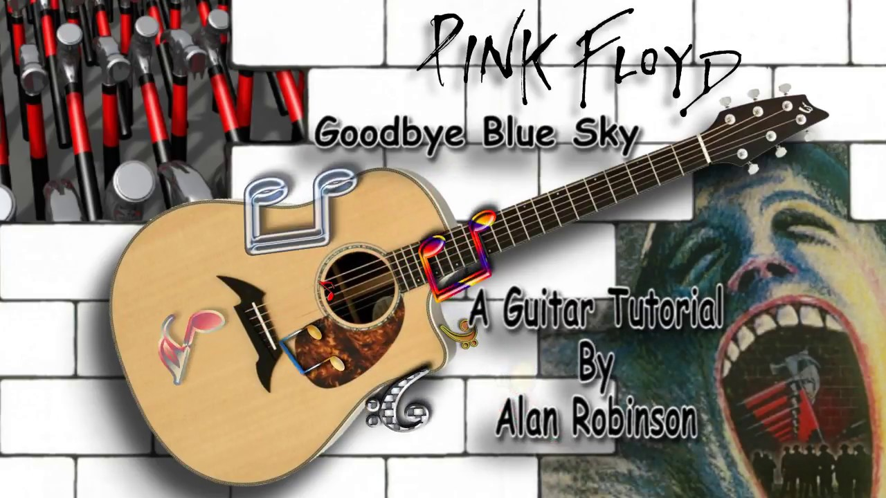 Goodbye Blue Sky Pink Floyd Acoustic Guitar Lesson Instrumental Drop D Tuning