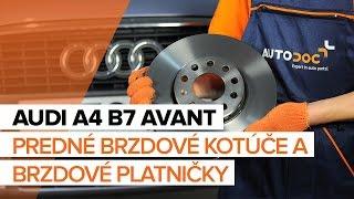 Ako vymeniť Brzdové doštičky AUDI A4 Avant (8ED, B7) - online zadarmo video