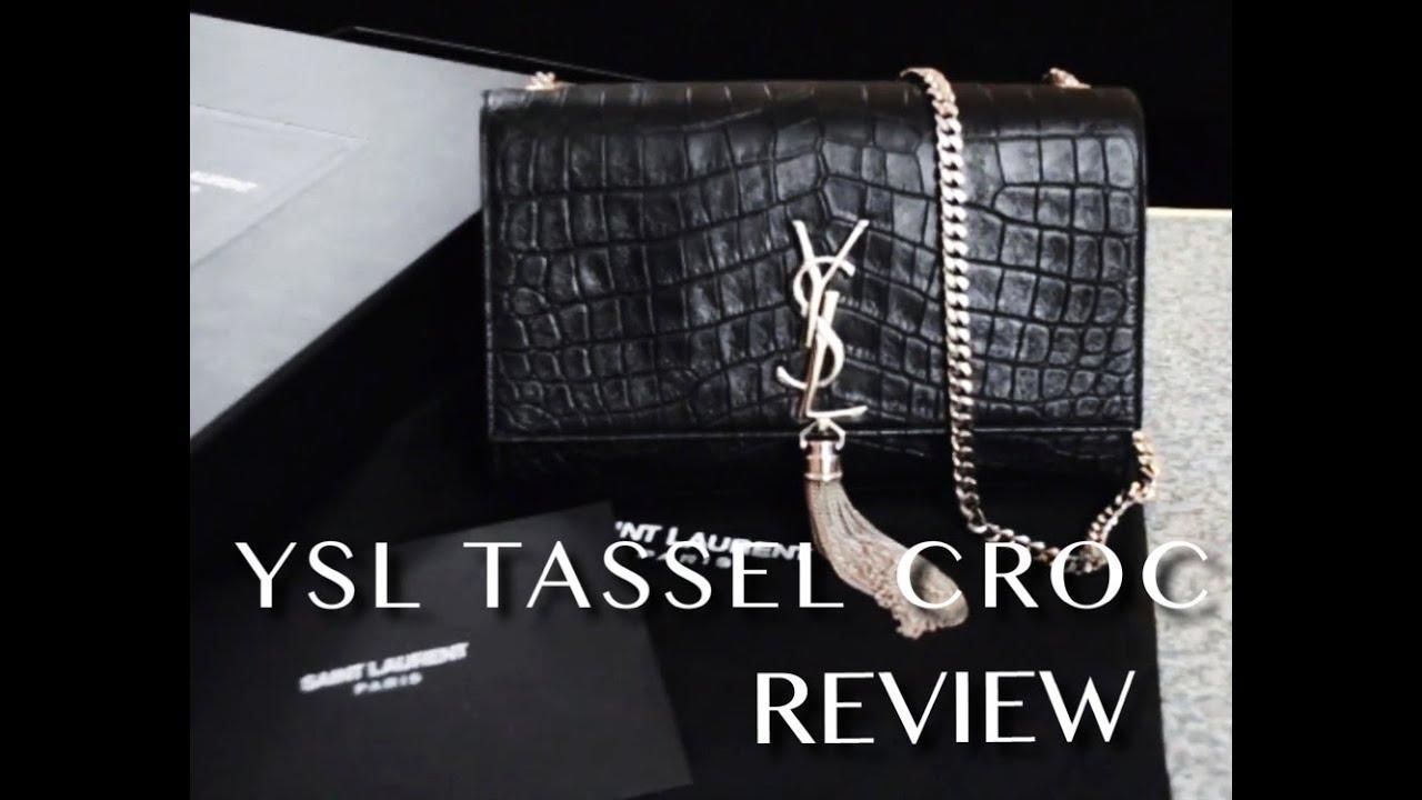 ysl medium monogram tassel bag satchel review