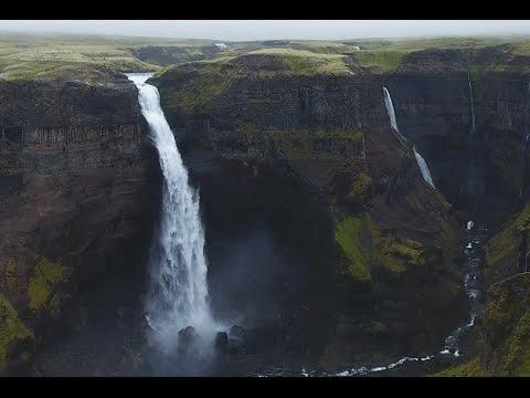 """Second HIGHEST Waterfall """"Háifoss"""" - ICELAND"""