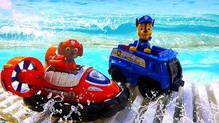 Щенячий патруль видео для детей. Приключения игрушек в аквапарке