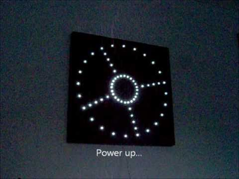 Homemade Led Analogue Clock V3 Youtube