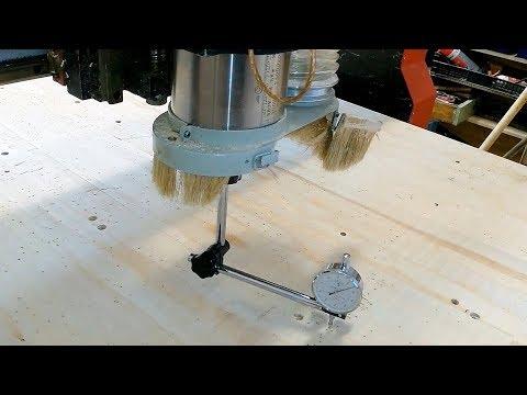 Как выставить шпиндель перпендикулярно к столу фрезерного станка