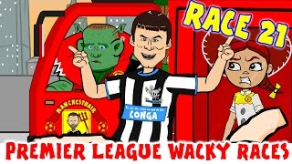 🚦RACE 21🚦Premier League Wacky Races! (Liverpool 3-3 Arsenal, Newcastle 3-3 Man Utd)