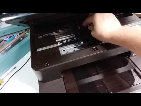 How to remove printhead in HP Photosmart 7510, 7515, 7520, 7525 printer