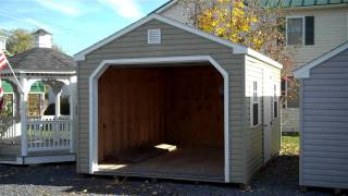 Vinyl Prefabricated Garages | 12x16 Prefab Garage | Amish Garages | Va