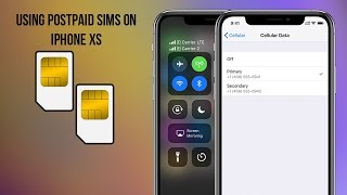 Dual SIMs on iPhone XS