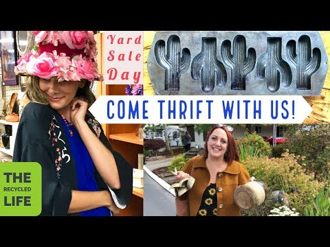 Come Thrift Shop With Us, Yard Sale Vintage Shopping! The Recycled Life
