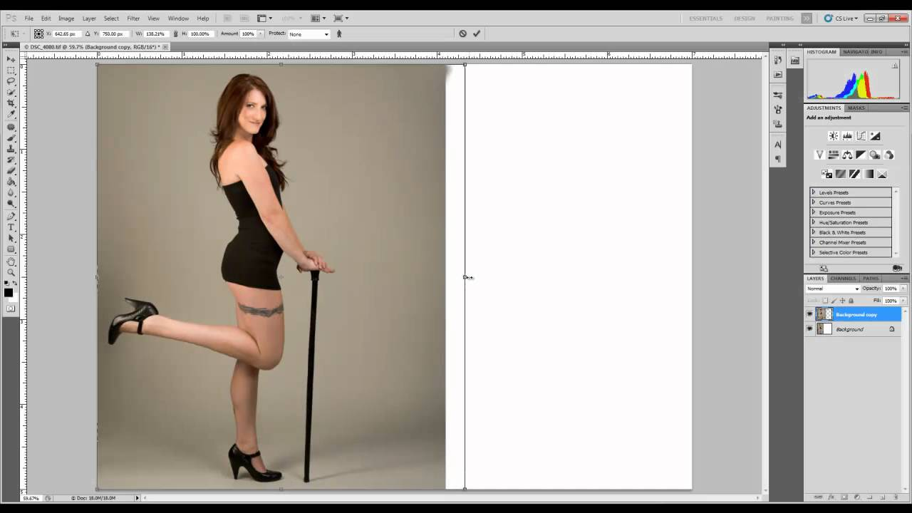 Extending A Background In Photoshop Cs5 Youtube