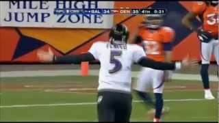 Baltimore Ravens vs Denver Broncos Joe Flacco Rocky Mountain Rainbow 2013 Playoffs