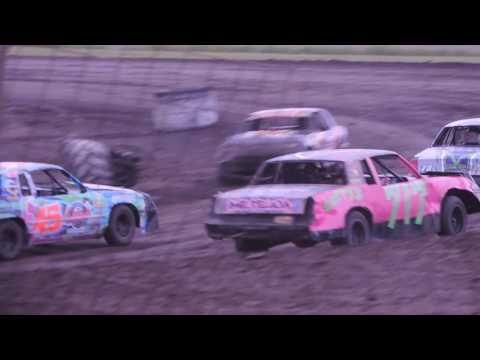 IMCA Hobby Stock Feature from Benton County Speedway on May 29, 2016
