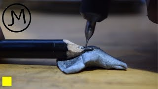 Carving Letters into Pencil Graphite [43]