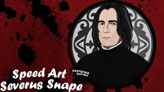 Speed Art: Severus Snape ( Harry Potter )