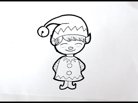 Cómo dibujar un Duende de Navidad Dibuja Conmigo Dibujos de Navidad ...