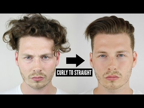 Thumbnail: Mens Curly To Straight Hair Tutorial - How To Style Curly Hair 2017
