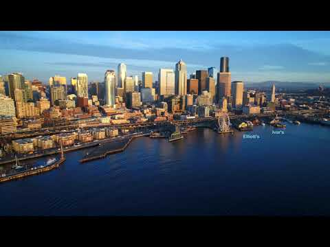 Seattle Washington Skyline in 4K