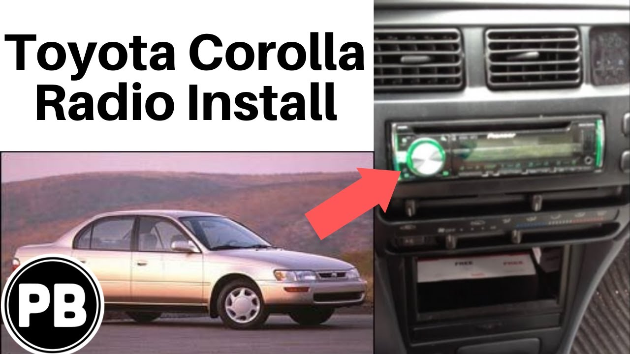1993 1997 toyota corolla stereo removal and replacement with pioneer deh x6600bt [ 1280 x 720 Pixel ]