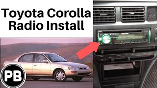 1993 - 1997 Toyota Corolla Stereo Removal and Replacement with Pioneer DEH-X6600BT
