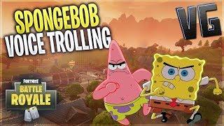 Fortnite | Hilarious Spongebob Voice Trolling!