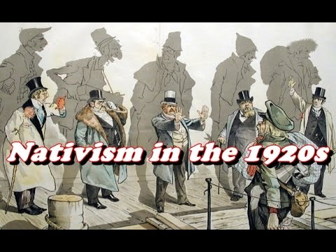 History Brief: Nativism in the 1920s
