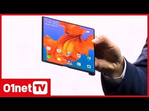 #MWC2019 : Huawei crée l'événement avec son smartphone pliable Mate X
