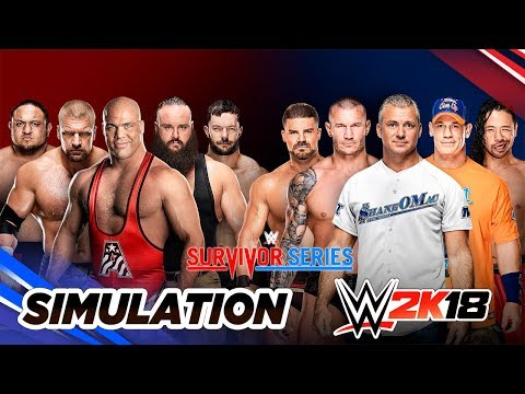 WWE 2K18 - Survivor Series 2017: Men's Team RAW vs Team SmackDown