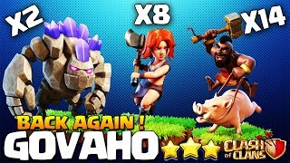 GoVAHo Is BACK!? TH9 STRONG WAR ATTACK STRATEGY 2018 | Troops According To The Base Clash of Clans
