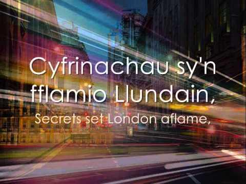 Goleuadau Llundain - Daniel Lloyd a Mr Pinc (geiriau / lyrics)