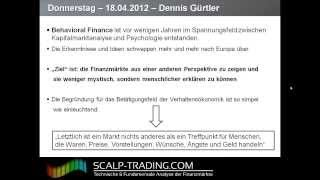 Video Thumbnail: 9: Behavioral Finance – Definition, Grundlagen (18:10)