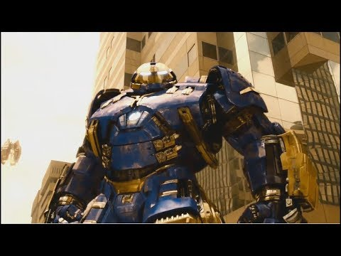 Hulk VS Hulkbuster FULL FIGHT Avengers Age Of Ultron ENG | Blue Hulkbuster Vs Hulk