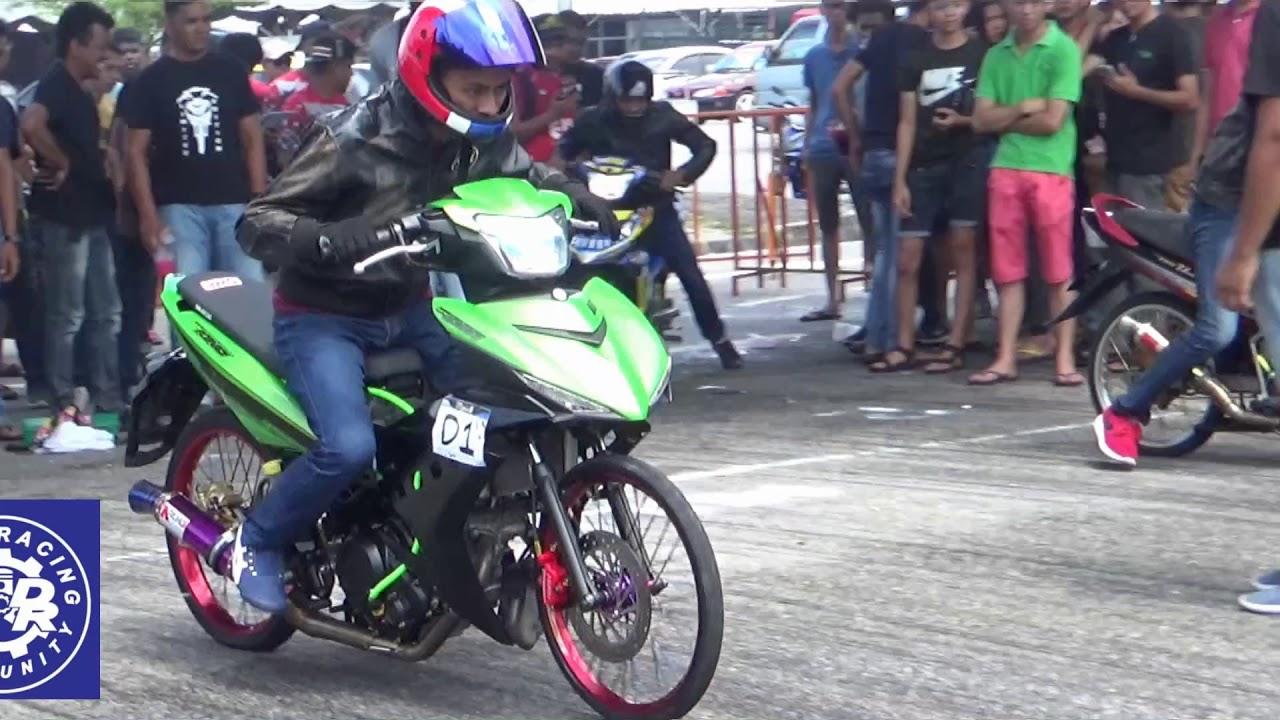 PART1/4 DRAG Bike Y15ZR RS150R Std Body Drag Racing Kubang Menerong May 2018