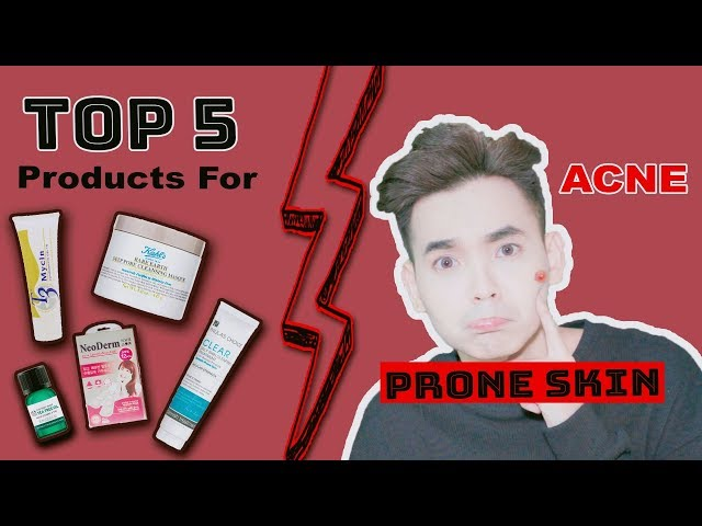 Top 5 Sản Phẩm Trị Mụn Hiệu Quả ♡ Products For Ance Prone Skin ♡ DungOiDungA