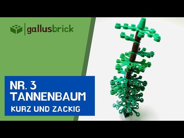 Wie baue ich ein Tannenbaum aus LEGO | Nr. 3 kurz und zackig